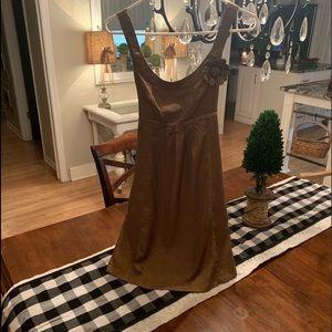 Easley size Medium bronze dress! Absolutely lovely